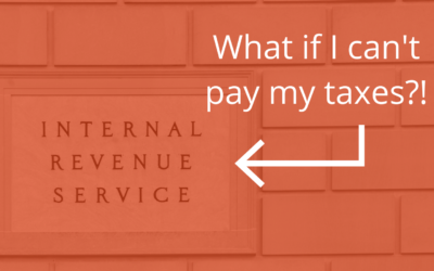 What if I can't pay my taxes?! (A Guide to Repaying the IRS)